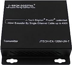 J-Tech Digital ProAV Unlimited N x N HDMI Extender Over Ethernet Cat6 Extender Matrix 12X12 8X8 Switch Switcher Extender by Single Ethernet Cable up to 400ft (Transmitter)