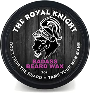 Badass Beard Care Beard Wax For Men - The Royal Knight Scent, 2 oz - Softens Beard Hair, Leaves Your Beard Looking and Feeling More Dense