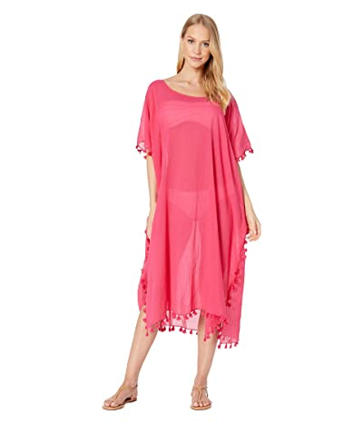 Seafolly Midi Amnesia Kaftan Cover Up (Persian Pink) Women