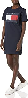 Tommy Hilfiger womens Short Sleeve Graphic Tee Dress Casual Dress