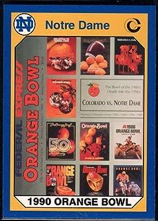 Football NFL 1990 Collegiate Collection Notre Dame #56 56th Orange Bowl