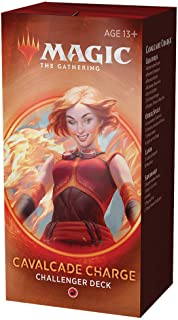 Cavalcade Charge Deck | Magic: The Gathering Challenger Deck 2020 | Tournament-Ready | 75 Cards + Tokens, (Model: C78720000)
