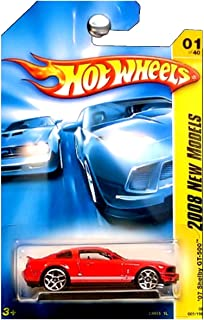Hot Wheels 2008 New Models 2007 Ford Mustang Shelby GT500 GT-500 Red with White Stripes