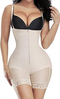 FeelinGirl Shapewear for Women Seamless Firm Triple Control Faja Plus Size Thigh Slimmer Tummy Control Body Shaper