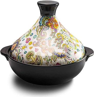 Tagine Pot Moroccan Le Creuset Outlet - Tajine Ceramic Pots for Cooking - Tajeen Pots Slow Cooker - Tagin Mexican Clay Pots f