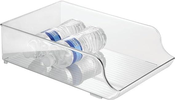iDesign Plastic Refrigerator and Freezer Storage Organizer Bin Water Bottle and Drink Holder for Kitchen
