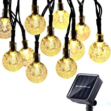 CMYK 2nd Globe String Lights, 20 Ft 30 Crystal Balls Waterproof LED Fairy Lights, Outdoor Starry Lights Solar Powered String Lights, Decorative Lighting for Home, Garden, Party, Festival (Warm White)