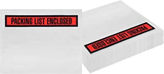 Packing List envelopes 7 x 5.5 Document mailers 7 x 5 1/2 by Amiff. Pack of 100 2 mil Thick envelopes. Red Panel Face