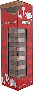 Torre Jenga, juego de equilibrio en madera maciza. 51 piezas