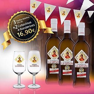 Manzanilla La Gitana - Pack 3 Botellas 37,5 Cl. + 2