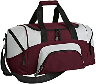 Colorblock Adjustable Sports Duffle Bag_Maroon_One Size