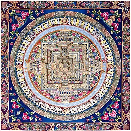 HKRSTSXJ. Tibetan Buddhistische Kultur Malerei Kunstbild Drucken Thangka Öl Leinwand Malerei Kunst Design Posterrahmen Nicht einschließen Malerei Kunst (Size (Inch) : 40CMx40CM)