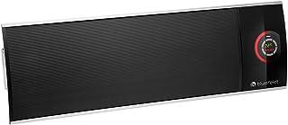 Blumfeldt CosmicBeam Ultra - Radiador Infrarrojo, Estufa 2200W, Display LED, De 5 a 45 °C, Temporizador 9 HS, Mando a Distancia, Material de Montaje en la Pared, Modo Eco, Negro