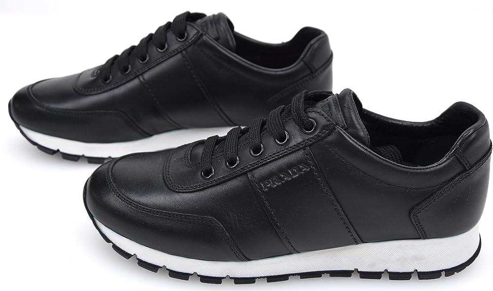 prada scarpa sneakers  donna in  pelle taglia 38 eu 3e6046