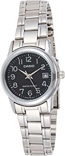 Casio Women's Black Dial Stainless Steel Analog Watch - LTP-V002D-1BUDF