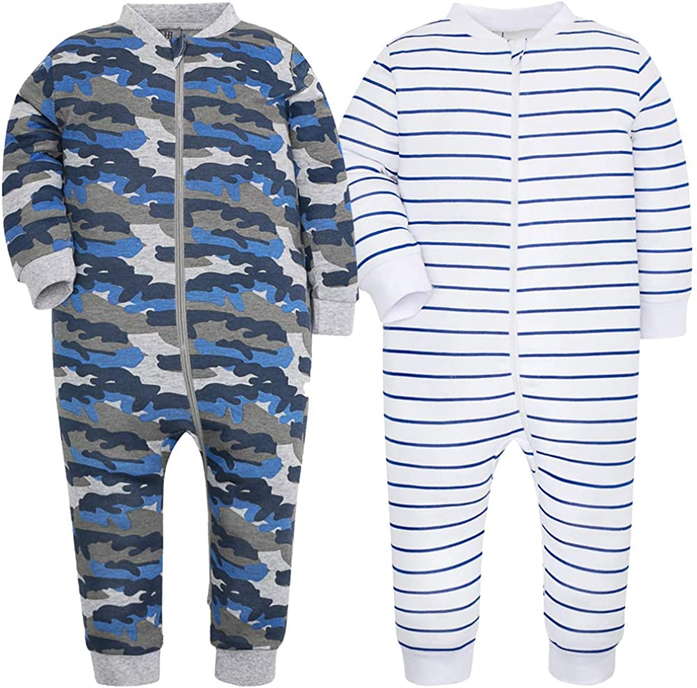 Baby Footed Pajamas Cotton Loose Fit Long Sleeve Toddler Onesies Boy Girl Sleeper
