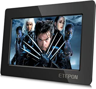 ETEPON 7 Inch HD LCD Screen for Raspberry Pi 1024 X 600 HDMI Monitor with Ultra-Slim Shell for Raspberry Pi 3 2 Model B+ 3B 2B B+ A+ EP007 (7 Inch Raspberry Pi Screen)