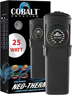 Cobalt Aquatics Flat Neo-Therm Heater with Adjustable Thermostat (Fully-Submersible,..