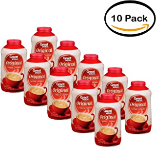 PACK OF 10 - Great Value Non-Dairy Coffee Creamer, 35.3 Oz