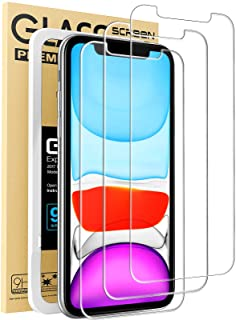 Mkeke Compatible with iPhone XR Screen Protector, IPhone 11 Screen protector,Tempered Glass Film for Apple iPhone XR and i...