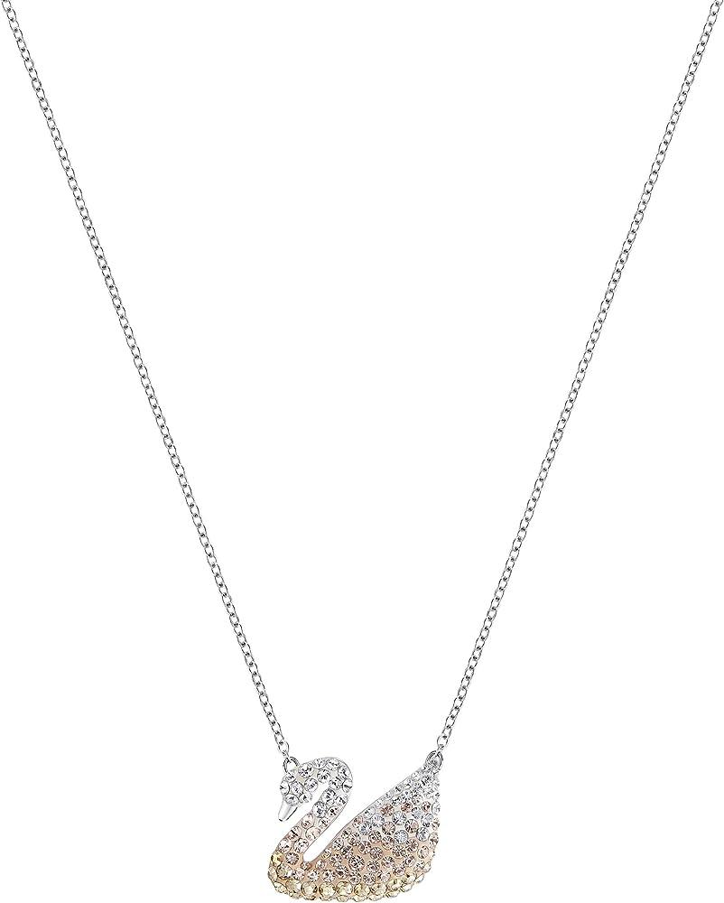Swarovski  iconic swan collana da donna placcata rodio con pendente 5215034