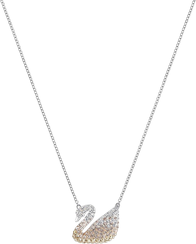 SWAROVSKI Women's Iconic Swan Crystal Jewelry Collection, Rhodiu