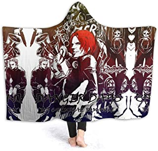 MUS-Wanna My Chemical Romance Hooded Blanket Soft Wearable Cape Wrap 3D Print Sherpa Fleece Blanket Throw Poncho (Adults 60