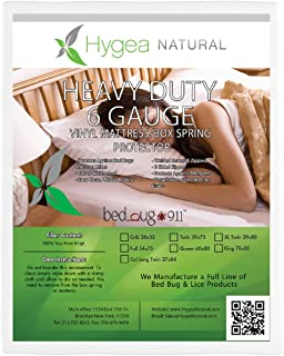 Hygea Natural   Vinyl   Bed Bug Box Spring Cover, Mattress Cover - Size XL Twin for California King