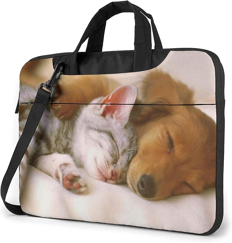 Epushow Dog and Cat Ranking integrated 1st place Laptop Bag Messenger Strap Shoulder Inch Atlanta Mall 14
