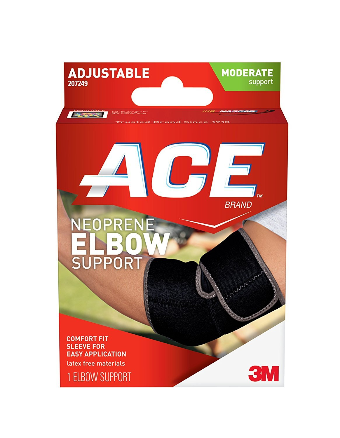ACE-207249 Adjustable Elbow Support One Fits Count Max 47% OFF Size 1 Popular standard Most