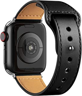 For apple watch black leather band 38/40mm