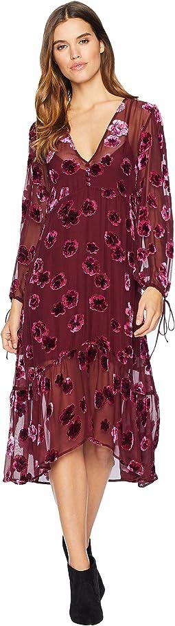 Sophie Velvet Floral Midi Dress