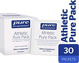Pure Encapsulations - Athletic Pure Pack - Comprehensive Daily Packet Providing Core Nutrients, Fish Oil, Antioxidants, Glutamine, and Energy Cofactors Including CoQ10 and Kre-Alkalyn - 30 Packets