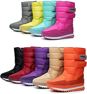 DADAWEN Women's Waterproof Frosty Snow Boot