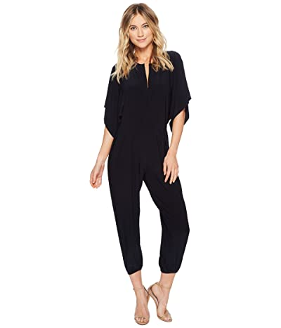 KAMALIKULTURE by Norma Kamali Rectangle Jog Jumpsuit (Midnight) Women