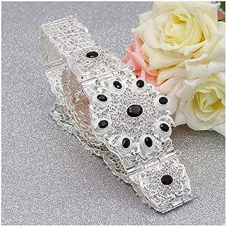 Decorative Belt Women Crystal Metal Wedding Belt Silver Color Morocco Waist Chain Match Caftan Caucasian Traditional Jewelry