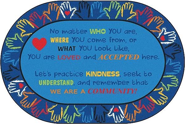 Carpets For Kids 3906 Hands Together Community Rug Multi