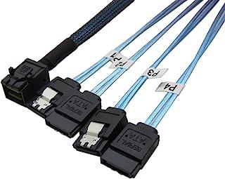 CableDeconn Interne HD Mini SAS (SFF-8643 Host) tot 4 x SATA (arget) harde schijf kabel (0,5M)