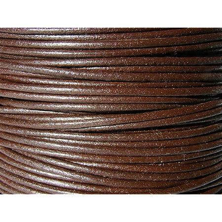 Braun 1 m w/ählbar L/änge esnado Lederschnur Rund geflochten 4 mm