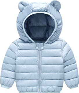 MH-Lucky Unisex Little Boys Girls Clothes Down Jacket Hoodie Coat Winter Warm Outerwear