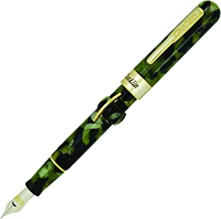 Conklin Mark Twain Crescent Filler Fountain Pen - Fine Nib, Vintage Green (CK71760:CK71761)
