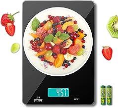 MomMed Balance Cuisine, 15kg Balance Alimentaire, Pese Aliment avec conversion 6 unités, écran LCD, plate-forme en verre f...