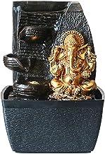 Elephant God Ganesha Desktop Hindu God Water Fountain Statue Home Decor Rosegold