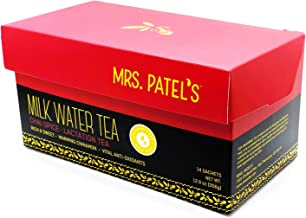 Mrs. Patel's Lactation Tea, Chai Spice Blend, Rich & Sweet, For Breastfeeding and Pumping Moms, Drink Iced or Hot, Large Brew Bags, Caffeine Free, Gluten Free, Dairy Free, Fenugreek Free (14 Sachets)