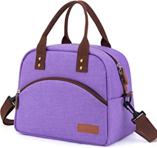 Insulated Lunch Box Bag with Detachable Shoulder Strap & Carry Handle,Leak Proof Reusable Lunch bag, Eco-friendly Cooler Bag,School Lunch Box for Kids,Men,Women(Purple)