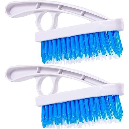 Toolwiz Lot de 2 brosses à récurer – Brosse à récurer à poils rigides en nylon pour joints de sol et joints de carrelage – Brosses de nettoyage pour salle de bain et cuisine