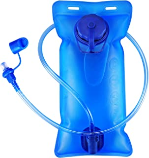 Hydration Bladder 2 Liter 3 Liter Water Bladder SKL Upgraded Leak Proof Water Reservoir Hydration Pack Replacement with Quick Release Insulated Tube and Auto Shut-Off Valve for Hiking Cycling Running