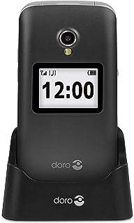 Doro 2424 Easy Clamshell Mobile Phone - Graphite/White
