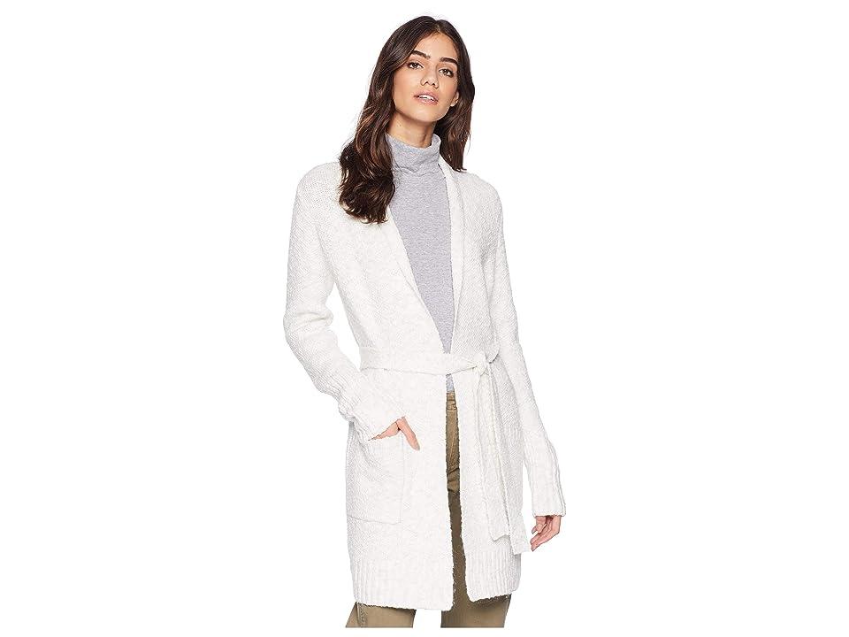 kensie Variegated Cotton Blend Cardigan KSNK5915 (Ivory Cloud) Women