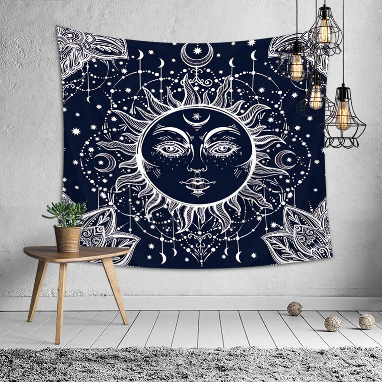 LONGXJA Wandtuch-Tischdeckenhintergrundstoff der Sun-Mondwanddekoration hängen hängende Vorhangteppichdecke Vorhangteppichdecke Vorhangteppichdecke B07P7GLZTC 324fac